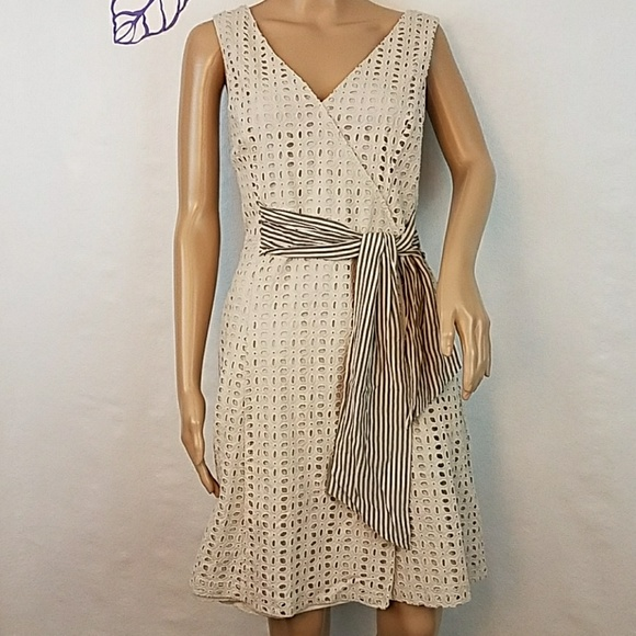 ce1aa6ac1a9 Donna Morgan Dresses   Skirts - Donna Morgan eyelet faux wrap fit   flare.